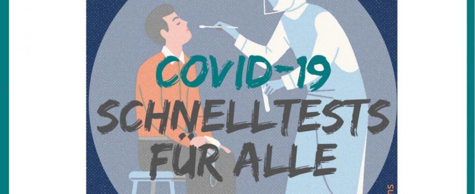 Kostenlose Corona / Covid 18 Schnelltests für Alle